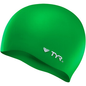 TYR Silicone Cap No Wrinkle, green